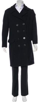Schott NYC Perfecto Brand by Double-Breasted Overcoat
