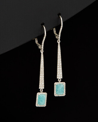 Meira T 14K 1.47 Ct. Tw. Diamond & Amazonite Earrings