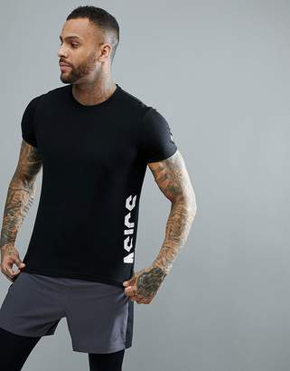 Asics Training Essential Logo Training T-Shirt In Black 155235-0904