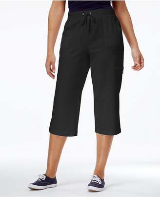 Karen Scott French Terry Capri Pants, Created for Macy's $44.50 thestylecure.com