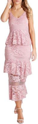 Girls On Film Fitted Midi Dress