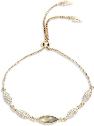Melinda Maria Camille Labradorite & Cubic Zirconia Bracelet