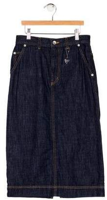 6070573460 Muveil Knee-Length Denim Skirt w/ Tags