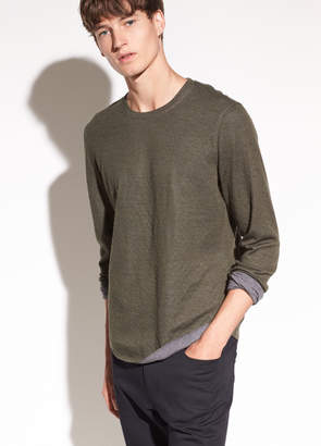Vince Contrast Double Knit Long Sleeve