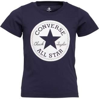 0312c15bd7b6 Converse Boys Chuck Taylor Script Short Sleeve T-Shirt Obsidian