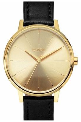 Women's Nixon 'The Kensington' Leather Strap Watch, 37Mm $125 thestylecure.com
