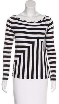 Diane von Furstenberg Bateau Neck Long Sleeve Top