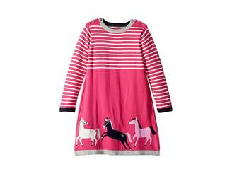 Joules Kids Graphic Knit Sweater Dress (Toddler/Little Kids)