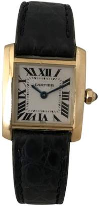 Cartier Tank Française yellow gold watch