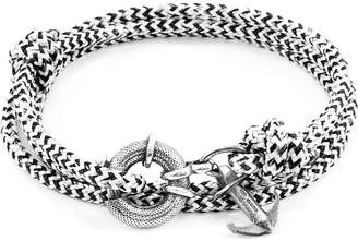 CLYDE Anchor And Crew Silver & Rope Bracelet