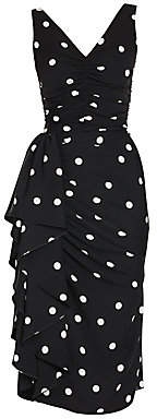 Dolce & Gabbana Women's Sleeveless Polka Dot Ruffle Dress