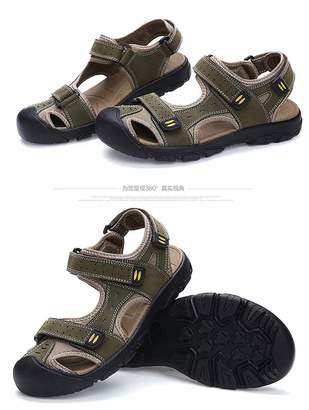 dcd9ad0f89e3f6 at Amazon Canada · Lijeer Athletic Slides Sandals Sport Men s Summer Casual  Fisherman Beach Leather Hiking Closed Toe Velcro Anti