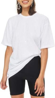 Topshop Crystal Tunic Shirt