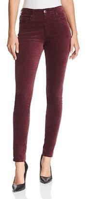 AG Jeans Farrah Skinny Velvet Jeans in Rich Carmine