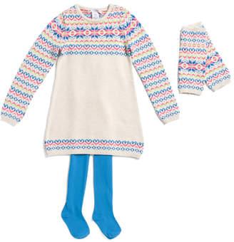 Toddler Girls Sweater Dress And Leg Warmers