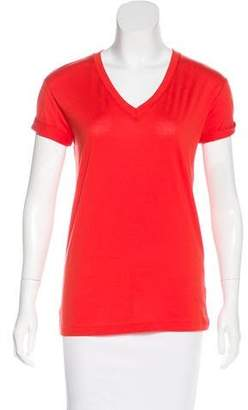 Alexander Wang Short Sleeve V-Neck Top