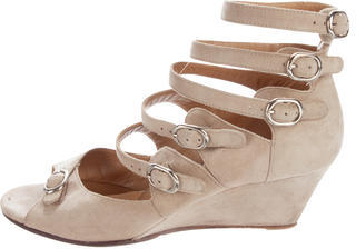 Chloé  Chloé Suede Wedge Sandals