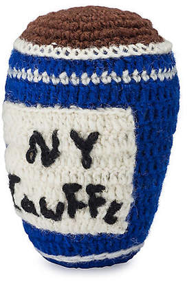 Lovethybeast Deli Cup Knit Dog Toy - Blue - LoveThyBeast