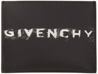 613b4a5a822 Givenchy Black Graffiti Logo Card Holder
