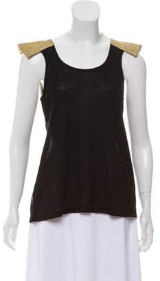 Alexis Semi-Sheer Sleeveless Top w/ Tags