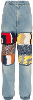 Ambush high waist knitted panel straight jeans