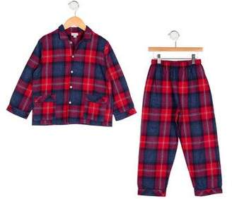 Papo d'Anjo Boys' Plaid Pajama Set