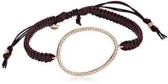 Tai Rose Gold Cubic Zirconia Oval Bracelet