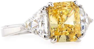 FANTASIA Emerald-Cut Canary Cubic Zirconia Ring