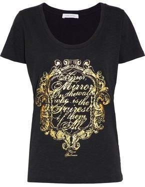 Pierre Balmain Metallic Printed Cotton-Jersey T-Shirt
