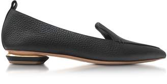 Nicholas Kirkwood Beya Black Tumbled Leather Loafer