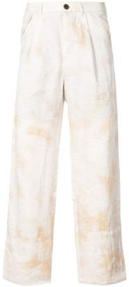 Individual Sentiments tie dye trousers