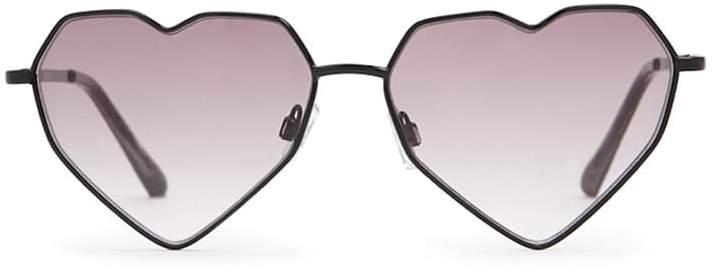 Forever 21 Premium Heart-Shaped Sunglasses