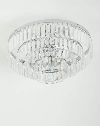 Basilica Crystal Semi-Flush Mount Light Fixture