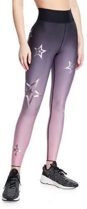 Ultracor High-Waist Metallic-Star Activewear Legging
