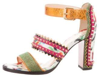 Christian Louboutin Spiked Ankle Strap Sandals