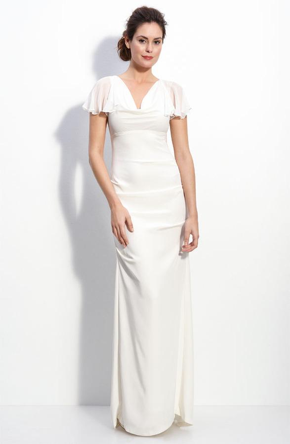 Nicole Miller Silk Crepe de Chine Gown