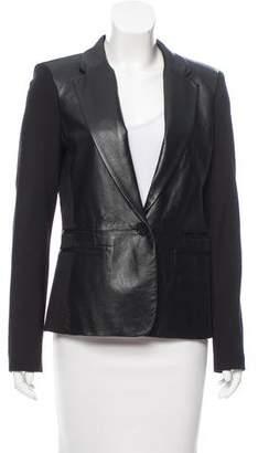 MICHAEL Michael Kors Notch-Lapel Leather Blazer