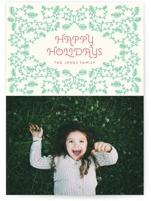 Christmas floral ornament Custom Selflaunch Stationery