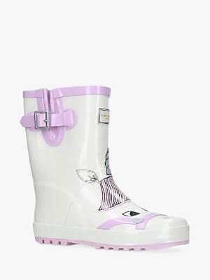 Joules Kurt Geiger London Children's Magical Unicorn Wellington Boots, White