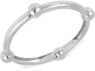 Robert Lee Morris Soho Silver-Tone Large Bead Accented Hinged Bangle Bracelet