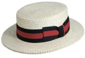 Scala Straw Boater Hat