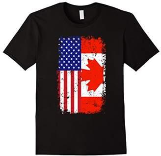 Rustic Canadian American Flag Shirt