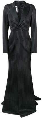 Moschino pinstriped double-breasted gown