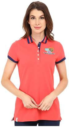 U.S. Polo Assn. Patch and Embroidered Embellished Polo Women's Clothing