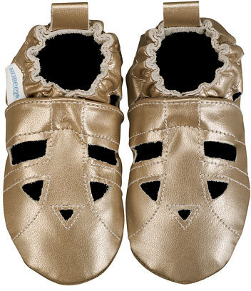 Robeez Gold Leather Baby Sandals