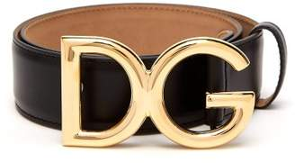 Dolce & Gabbana Buckle Leather Belt - Womens - Black