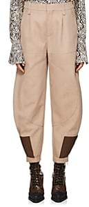 Chloé Women's Wool-Cotton Gabardine Riding Pants - Beige