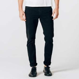 DSTLD Mens Skinny-Slim Selvedge Chino Pant in Black