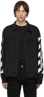 Off-White Off White SSENSE Exclusive Black Denim Incomplete Jacket