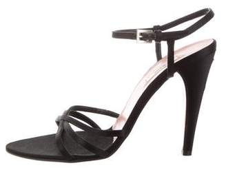 Prada Satin Multistrap Sandals
